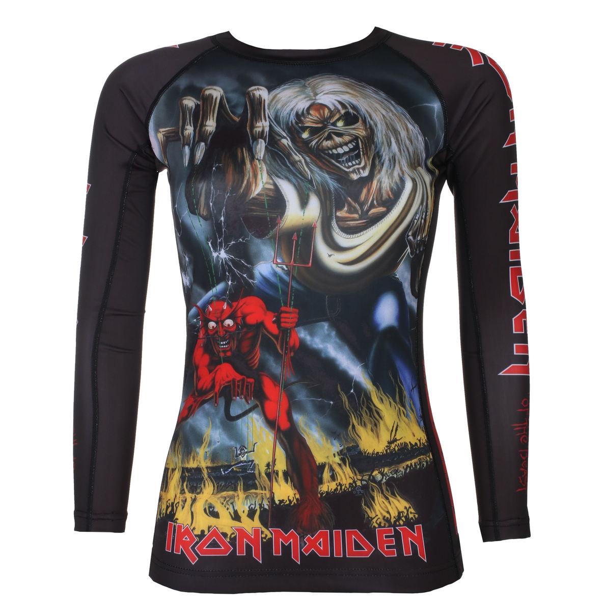 tričko dámske s dlhým rukávom (technickej) TATAMI - Iron Maiden - Number of the Beast - Rash Guard -