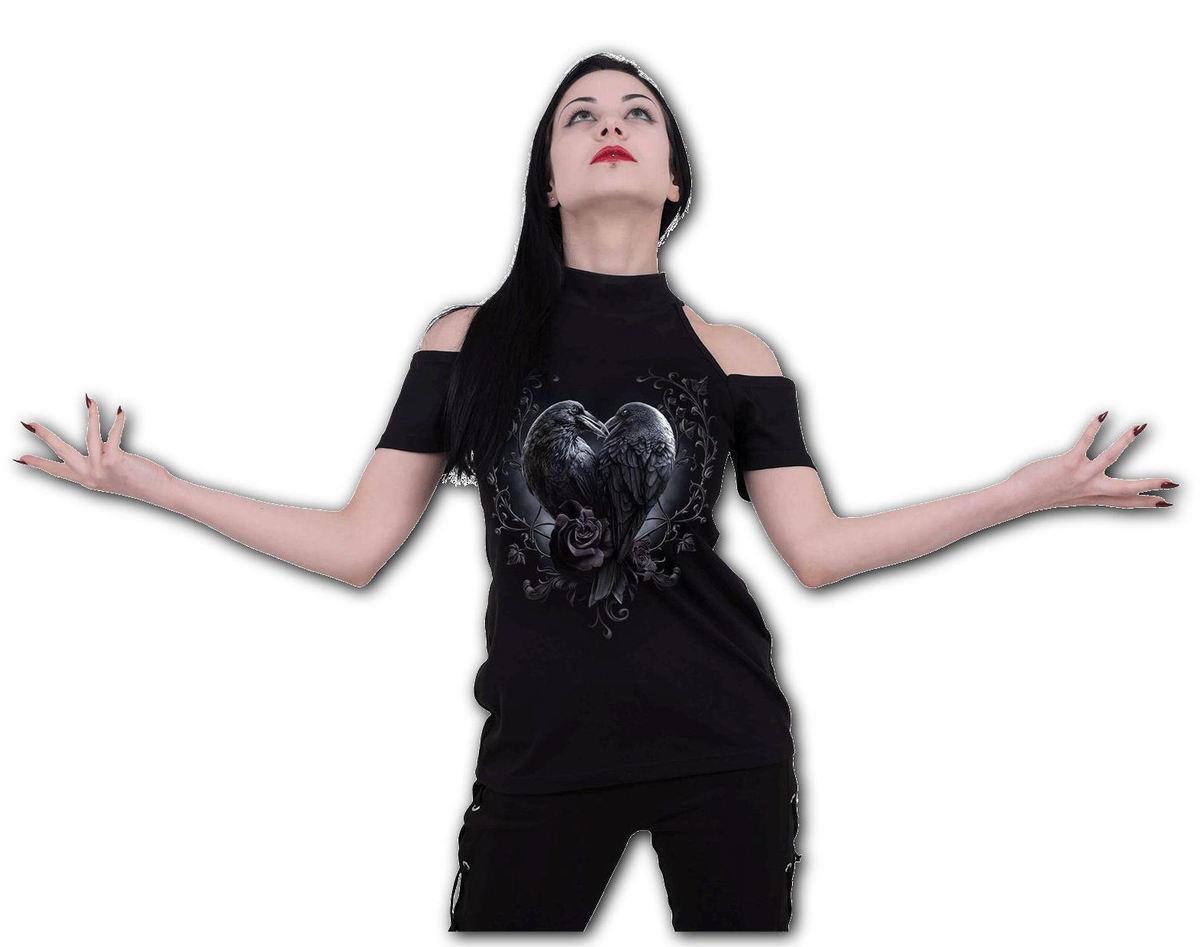 tričko dámske SPIRAL - RAVEN HEART - D085F764