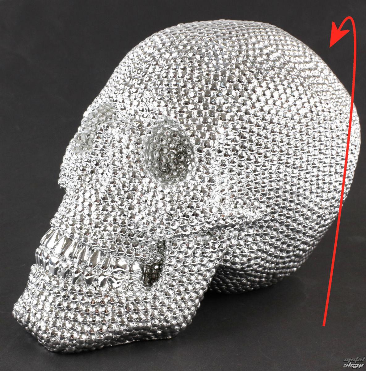dekorácia Skull - Silver - 78/5744 - POŠKODENÁ - BEA056