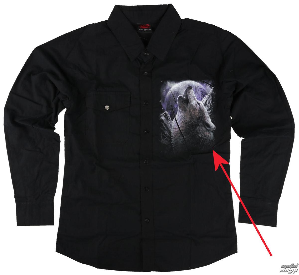 košele pánska s dlhým rukávom SPIRAL - WOLF SOUL - POŠKODENÁ - BEA162