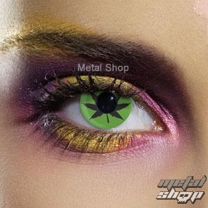 kontaktné šošovka GREEN CANNABIS LEAF - EDIT - 80009