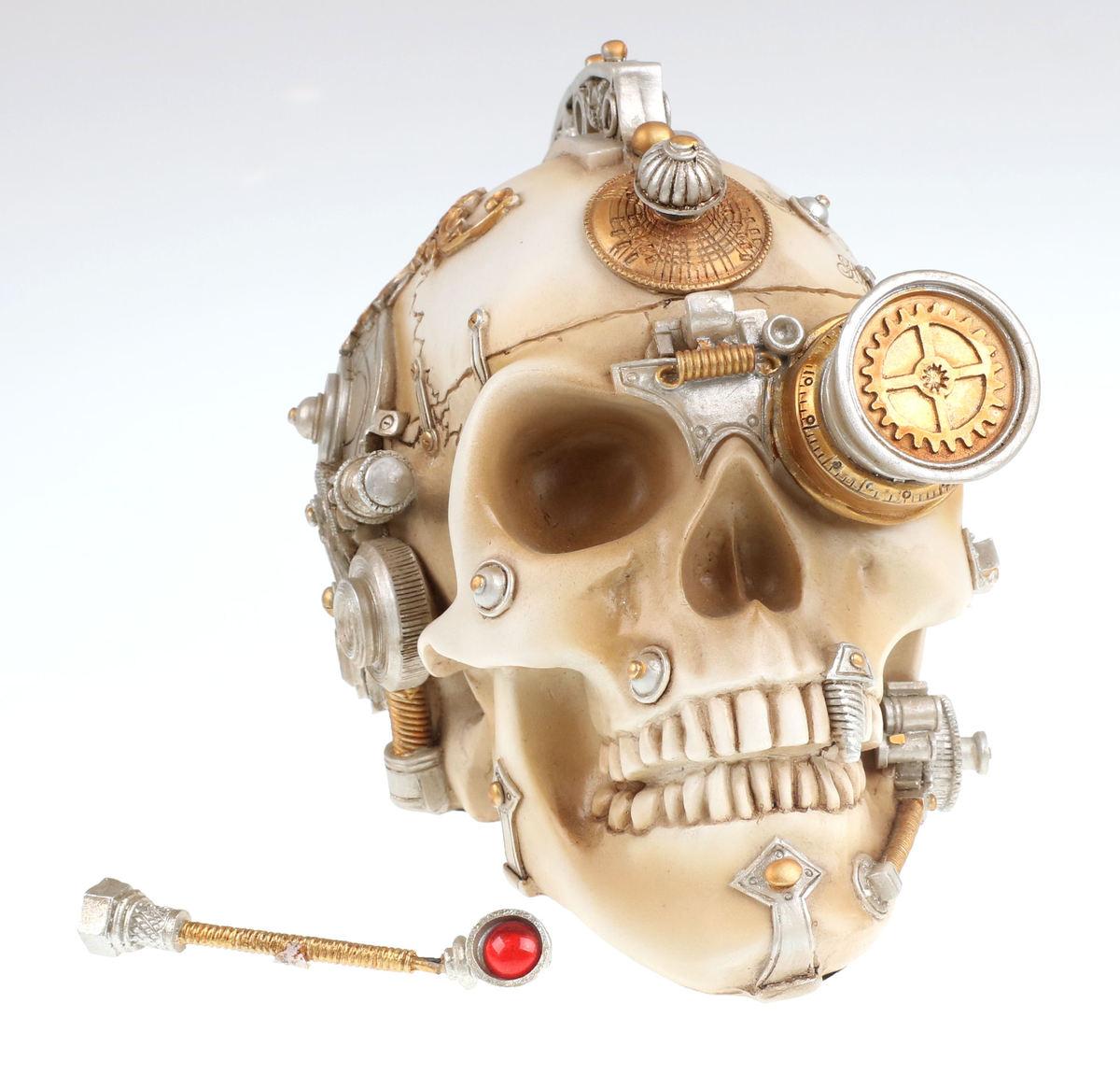 dekorácia Alchemy Gothic - Erasmus Darwin´s Steam-Cerebrum Skull - POŠKODENÁ - MA317