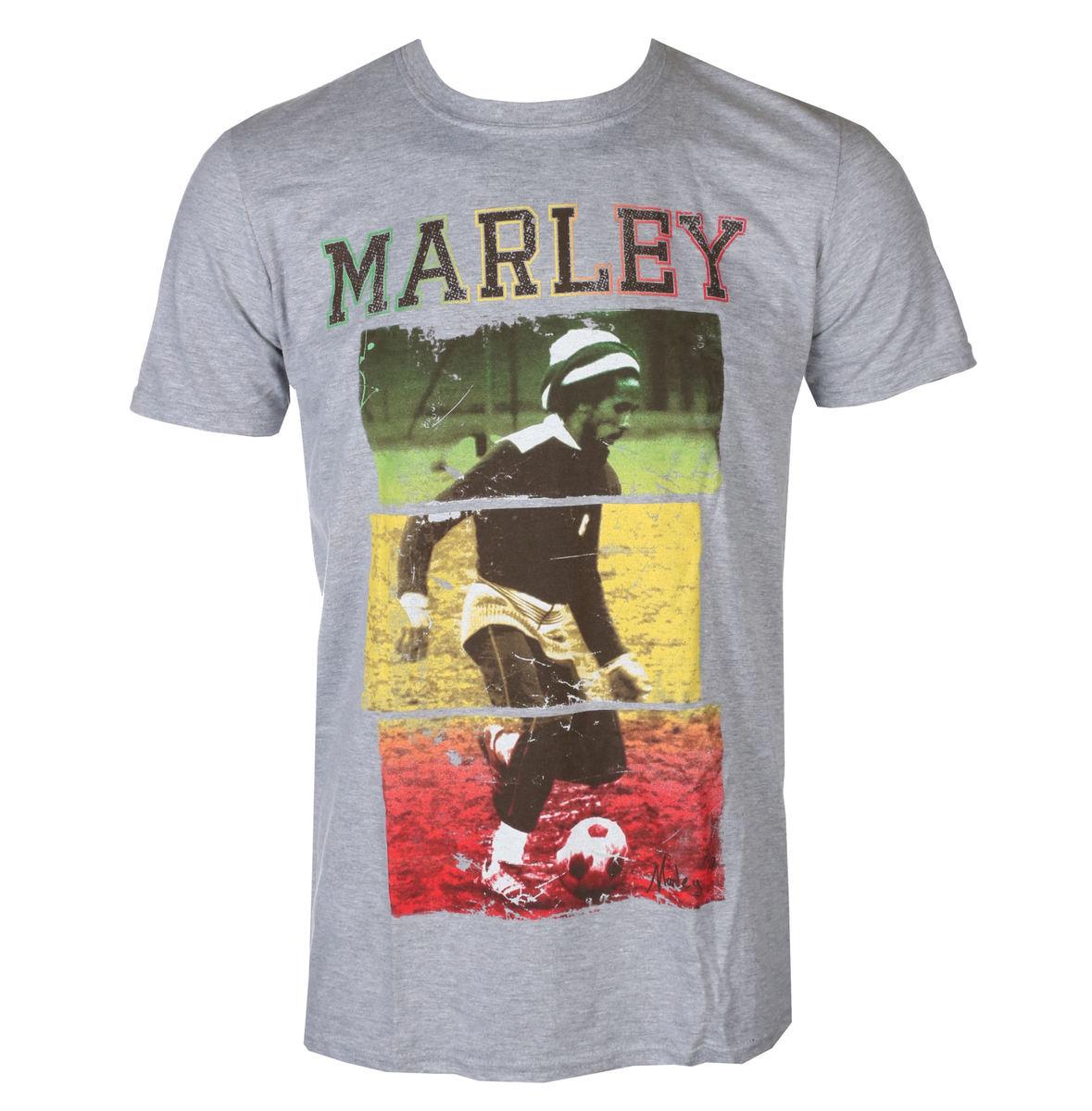 tričko pánske Bob Marley Football Text - ROCK OFF - BMATS09MG