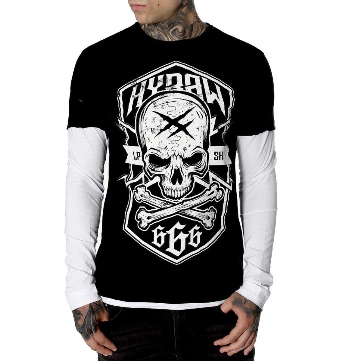 tričko pánske s dlhým rukávom HYRAW - MANCHES LONGUES - FW19-M14
