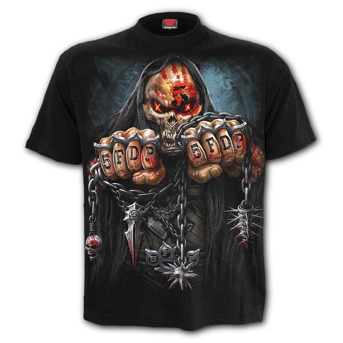tričko pánske SPIRAL - Five Finger Death Punch - GAME OVER - G222M139