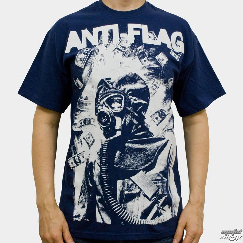 tričko pánske Anti Flag (Gasmask) - KINGS ROAD - Blue Navy - 00160