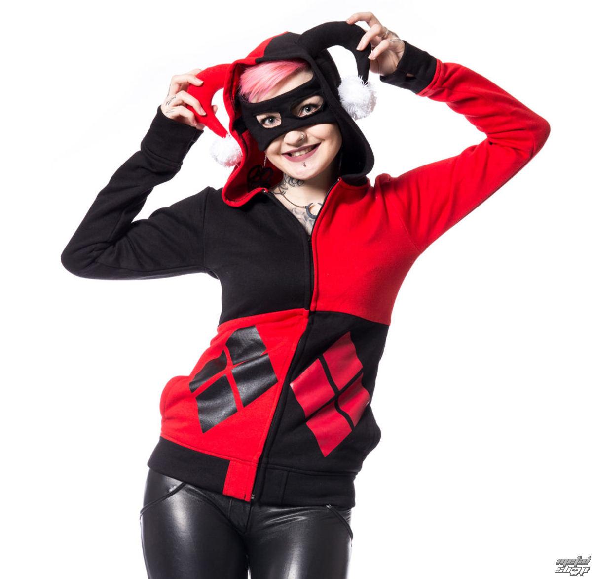 mikina dámska Batman - HARLEY - BLACK/RED - POI506