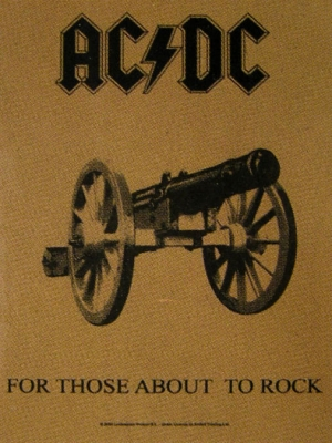 vlajka AC/DC - For Those About To Rock - HFL0719