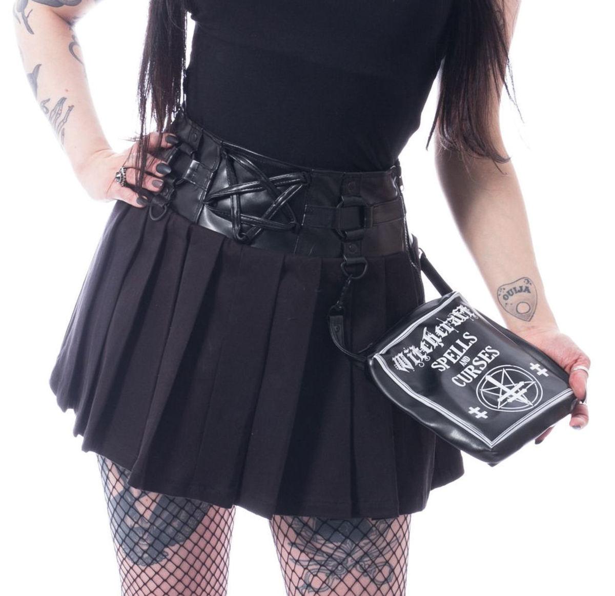 sukňa dámska HEARTLESS - PENTAGRAM - BLACK - POI655