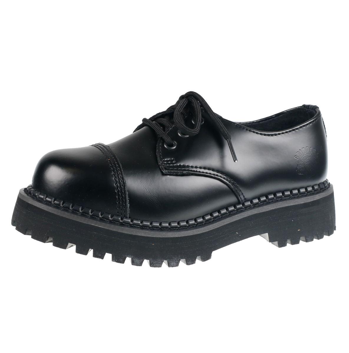 topánky GRINDERS - BOXER CS BLACK - BOX-CS-BLA