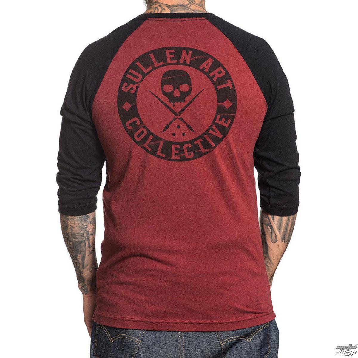 59200099cb1f tričko pánske s 3 4 rukávom SULLEN - BOH BLINK - Burgandy   BLACK ...