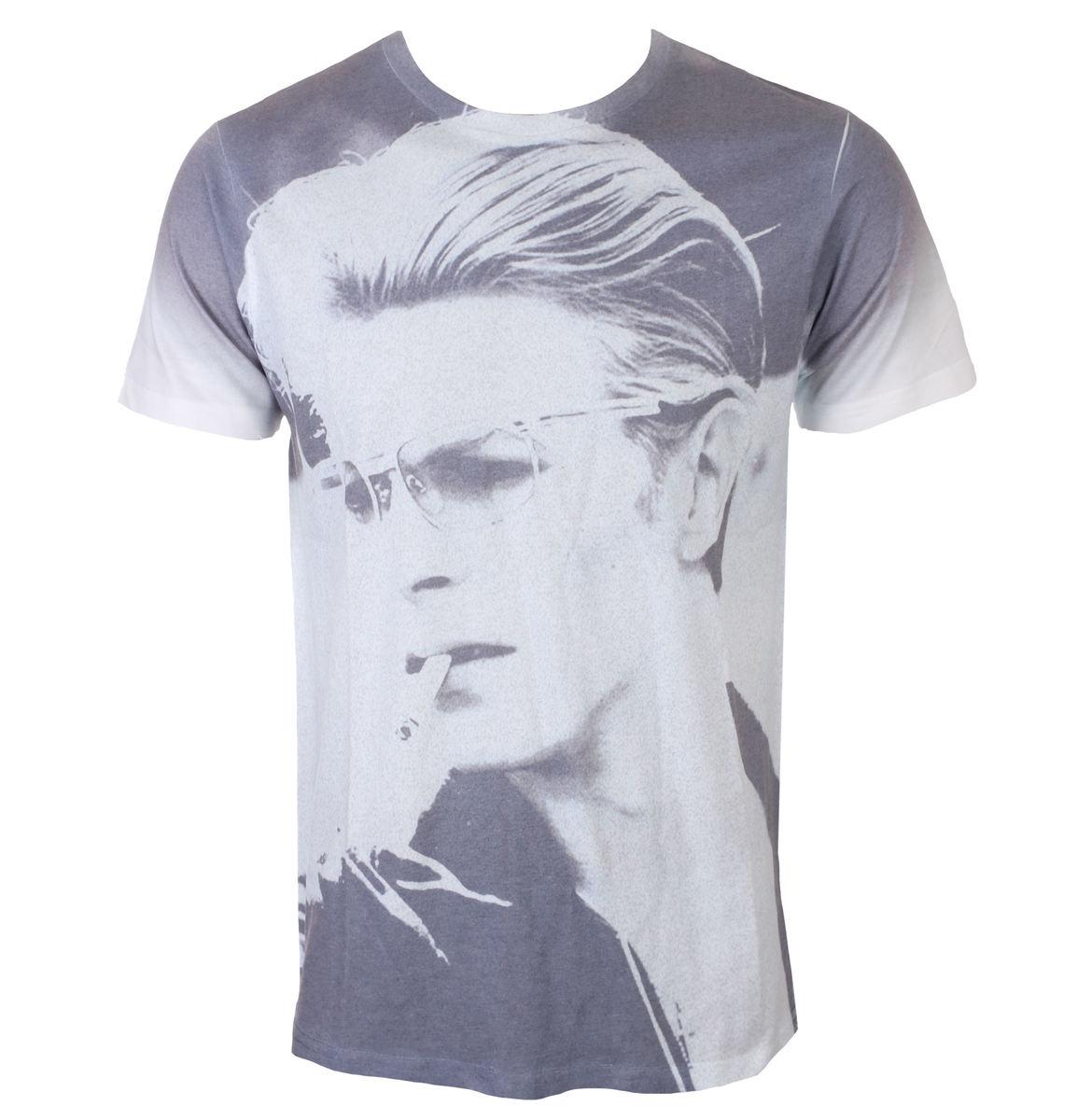 97b5da51570 tričko pánske David Bowie - Wild Profile - White - ROCK OFF - BOWTS19MW -  metalshop.sk
