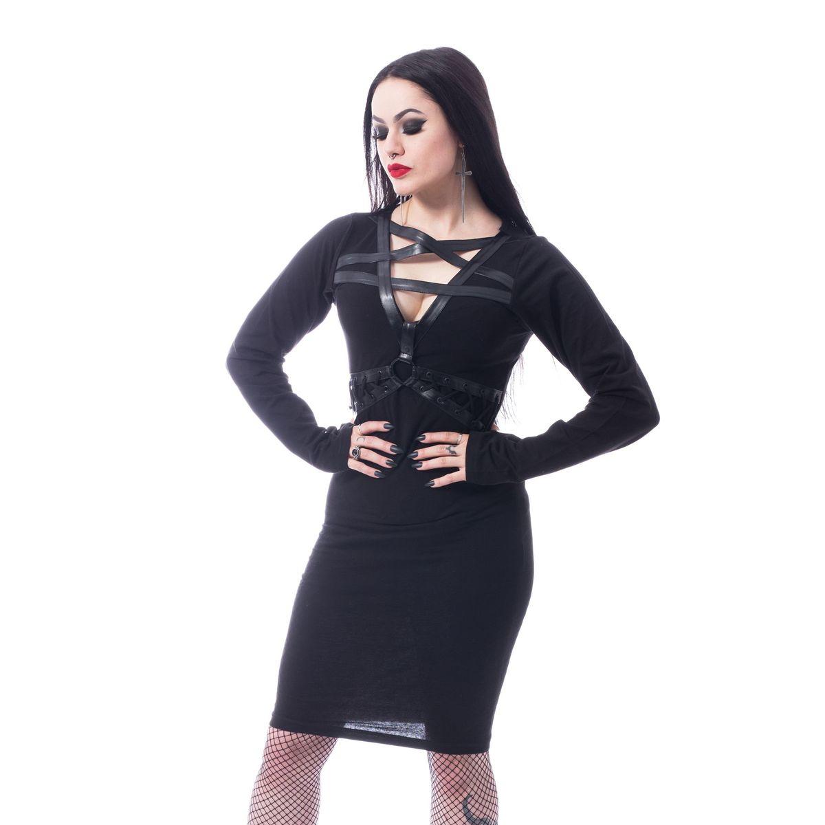 šaty dámske HEARTLESS - PENTA CURSE - BLACK - POI794
