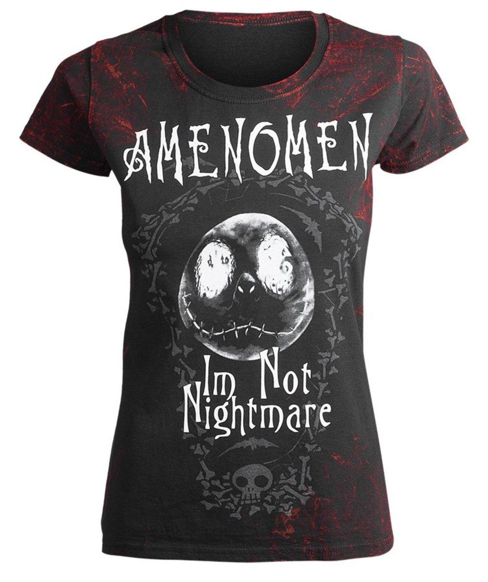 tričko dámske AMENOMEN - I´M NOT NIGHTMARE - RED - OMEN073DA