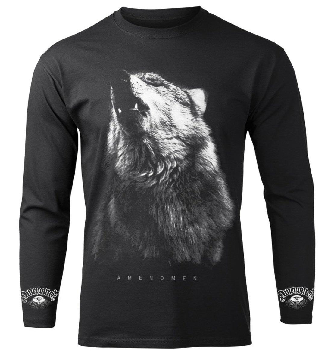 tričko pánske s dlhým rukávom AMENOMEN - WOLF - OMEN036LO