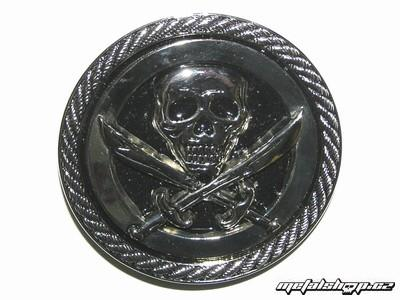pracka na kožený opasok Lebka 16