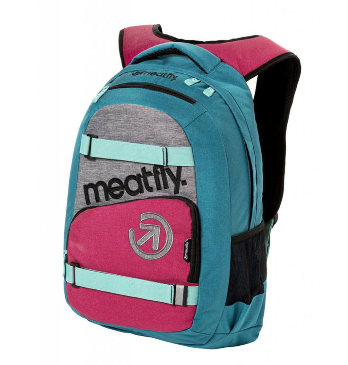 batoh MEATFLY - EXILE 3 J - Ht.Turquoise / Ht.Rose - MEAT161