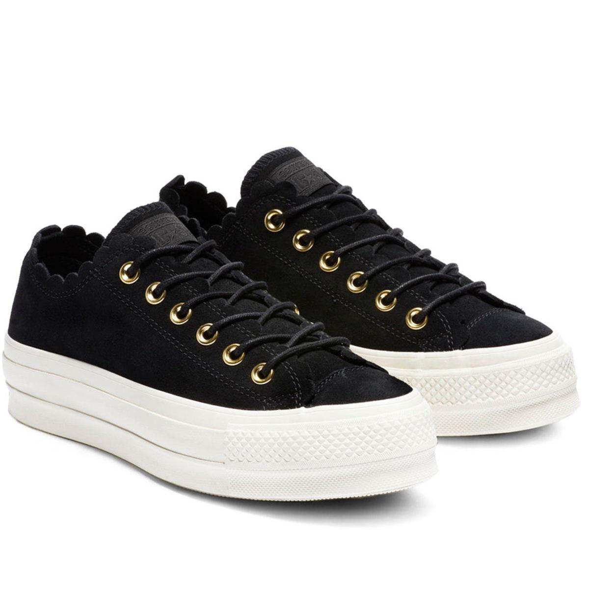 6c9fb74a60d46 topánky dámske CONVERSE - CTAS LIFT OX - BLACK / GOLD / Egret ...
