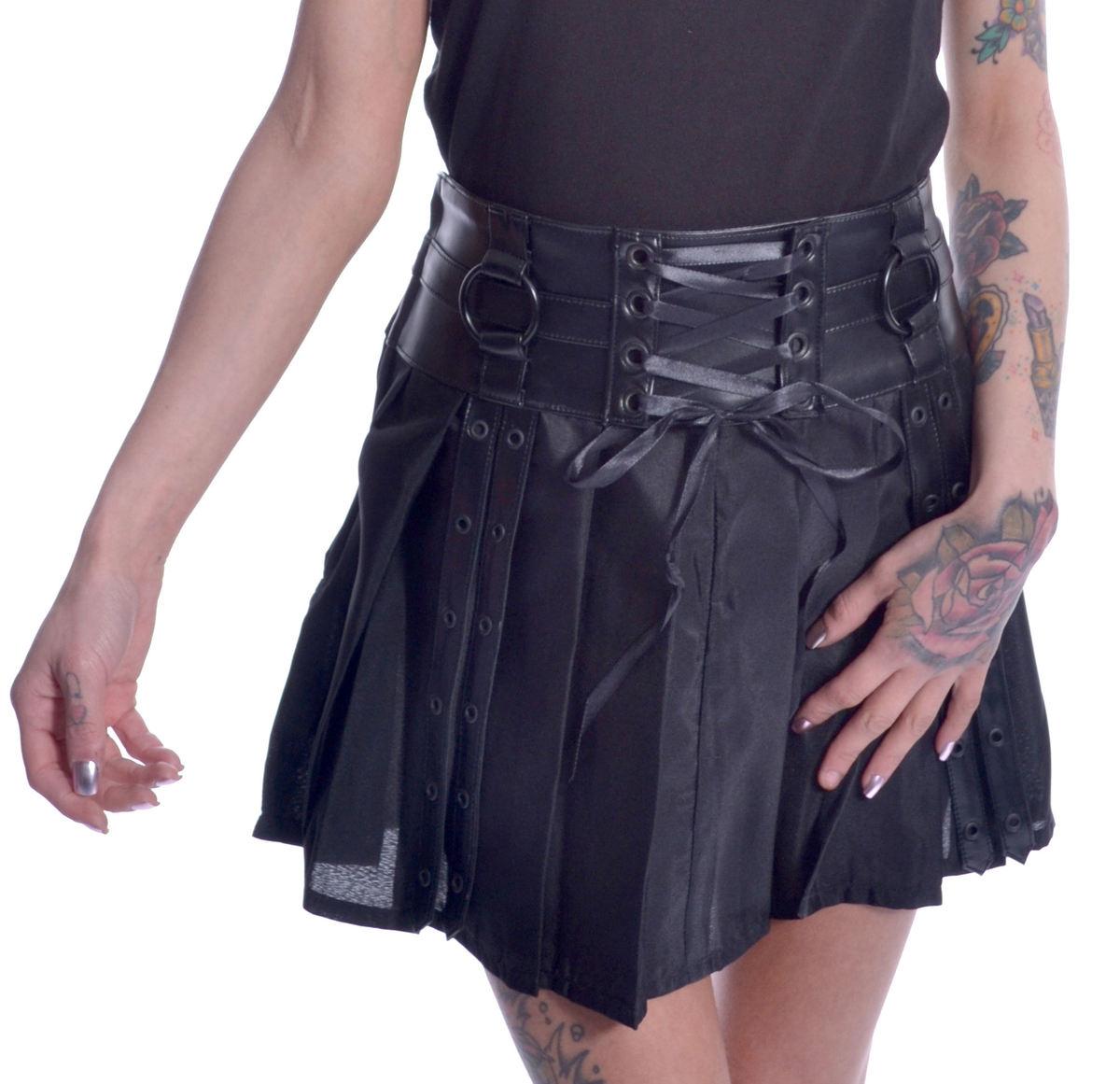 sukňa dámska CHEMICAL BLACK - SIIRI - BLACK - POI659