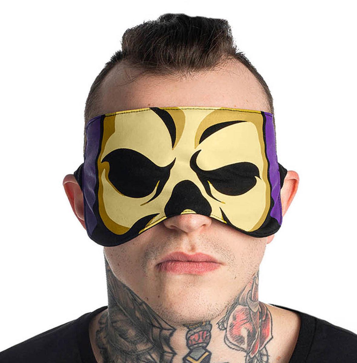 maska na spanie KILLSTAR - Skeletor - BLACK - KSRA002084