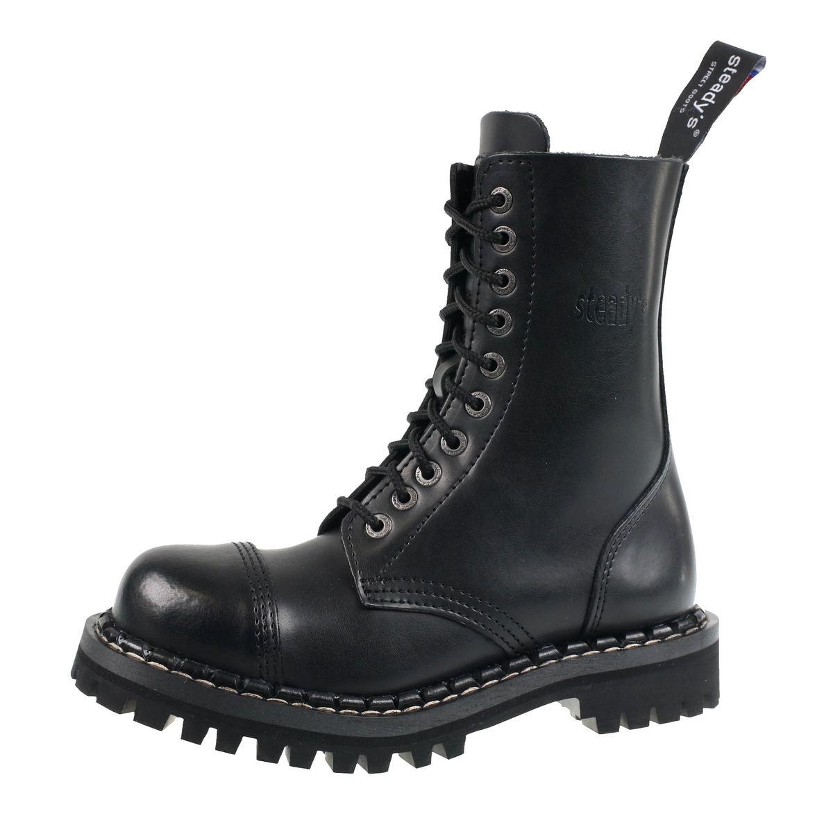 bf1cab7031826 topánky STEADY´S - 10 dierkové - Black - STE/10_black - metalshop.sk