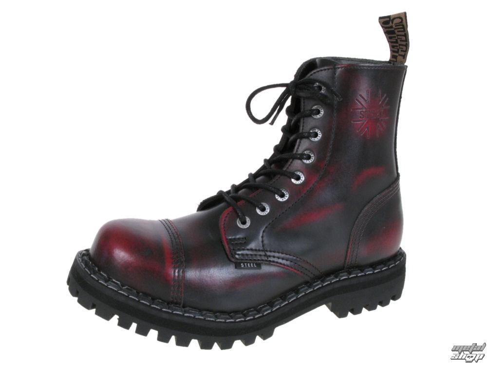 26f4c288aeaae topánky STEEL - 8- DIERKOVÉ - 114/0 - RED/BLACK - metalshop.sk