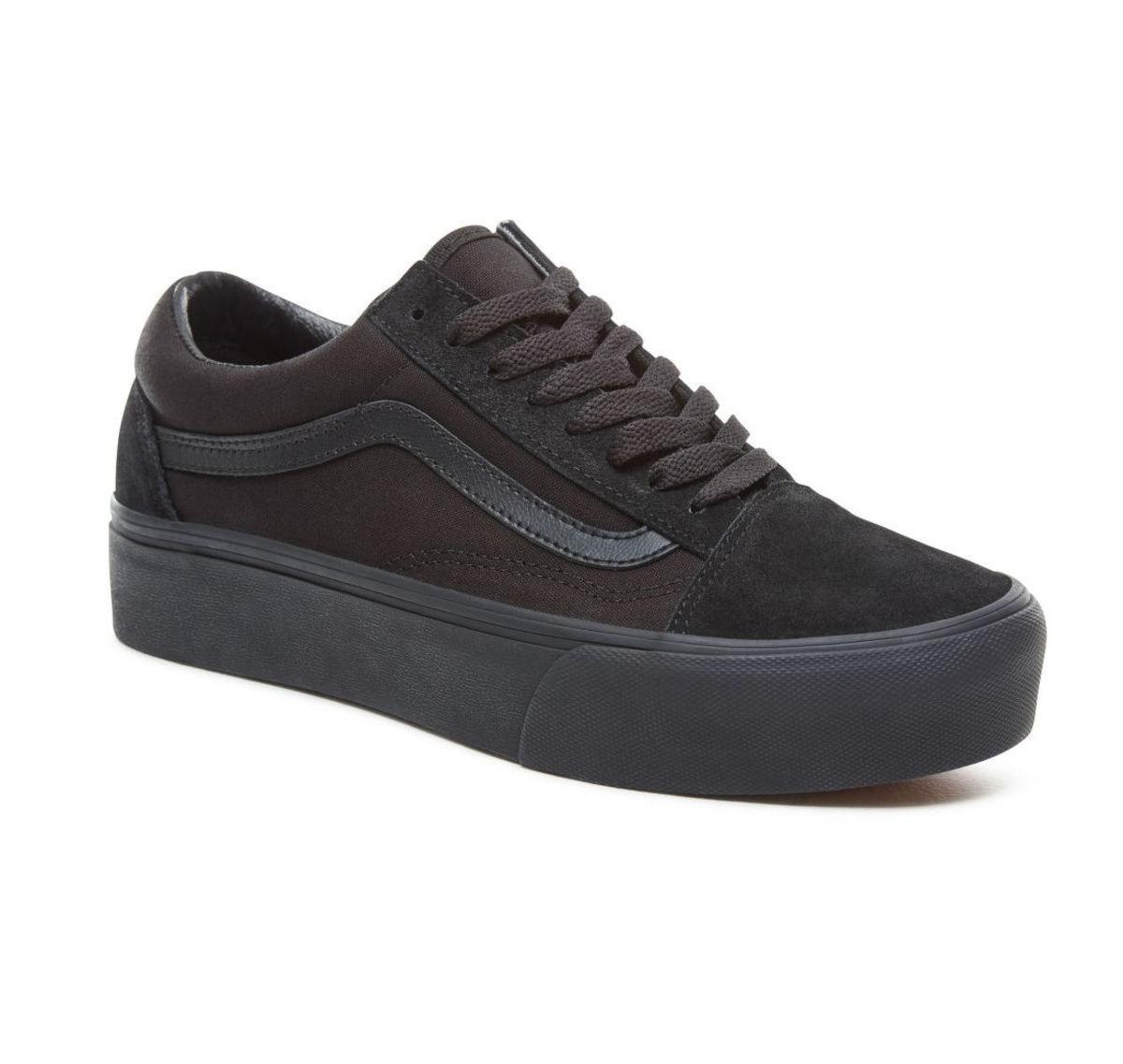 46a78286a7dc6 topánky VANS - UA OLD SKOOL PLATFOR - Black / Black - VN0A3B3UBKA1 ...
