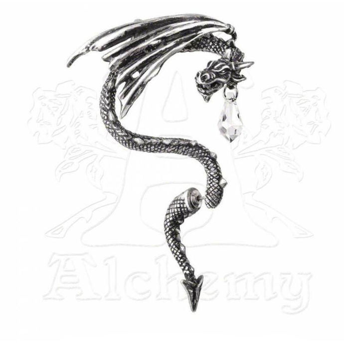 náušnice ALCHEMY GOTHIC - Crystal Dragon Ear Wrap