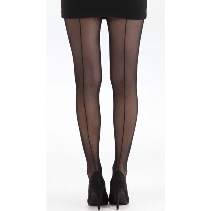 pančucháče PAMELA MANN - Tulle Seamed Tights - Black