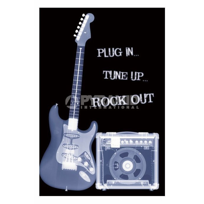 plagát Plug In ... Tune Up ... Rock Out - PP31159