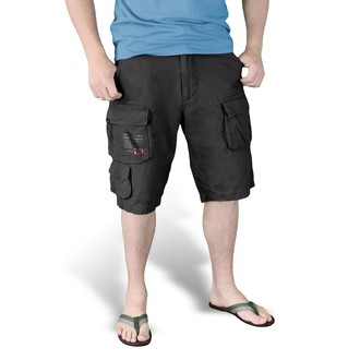 kraťasy pánske SURPLUS - Trooper Shorts - Black - 07-5600-63