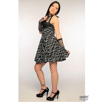 šaty dámské Barbed Wire Zip Dress (Black/White) - 5135 WHT