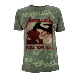 tričko pánske Metallica - Kill 'Em All - Olive Green - RTMTLTSOGKIL