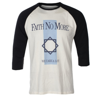 tričko pánske s 3/4 rukávom FAITH NO MORE - WE CARE A LOT - ECRU / BLACK RAGLAN - GOT TO HAVE IT, GOT TO HAVE IT, Faith no More