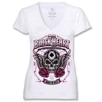 tričko dámske BLACK HEART - ROYAL - WHITE, BLACK HEART