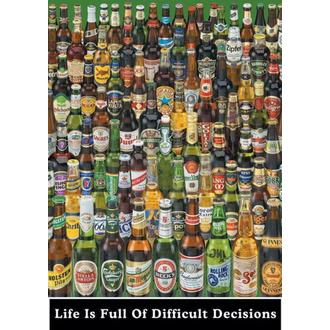 plagát Life Is Full Of Difficult Decisions (Beer Bottles) - PP0273 - Pyramid Posters