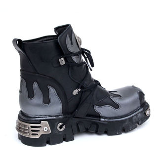 topánky NEW ROCK - Flame Shoes (288-S2) Black-Grey