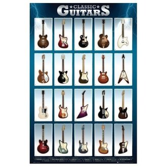 plagát Classic Guitars - GB posters - GN0500