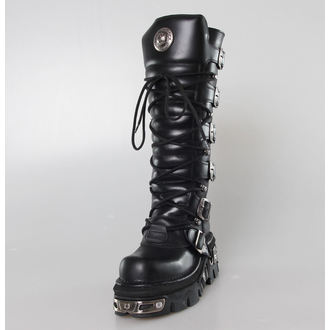 Topánky New rock - 6-Buckle Boots (272-S1) Black
