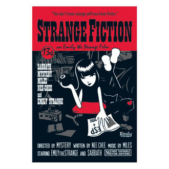 plagát EMILY THE STRANGE 'FICTION PULP COVER POSTER' PYRAMID POSTERS, EMILY THE STRANGE