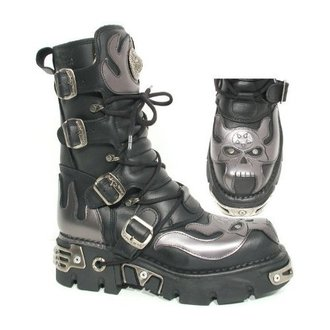 Topánky New rock - Vampire Boots (107-S2) Black-Grey - N-8-01-700-08