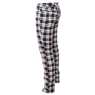 nohavice dámske HELL BUNNY - TARTAN PRINTED TROUSERS - 51323 TAR White