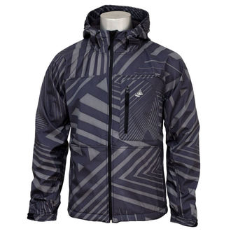 bunda pánska -softshell- MEATFLY - Supersonic - B-TRIANGLE-BLACK-GREY