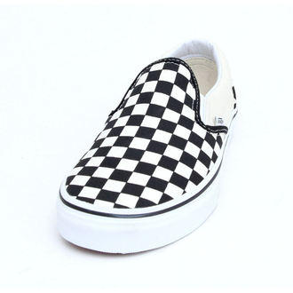 topánky VANS - Classic Slip On - Black And White Checker - White