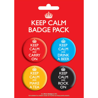 odznaky Keep Calm Badge - GB Posters, GB posters