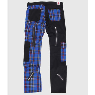 nohavice Black Pistol - Freak Pants Tartan Black-Blue