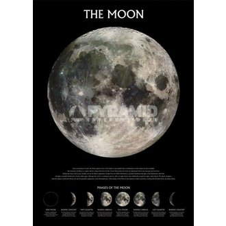 plagát The Moon - Outer Space - Pyramid Posters - PP0432