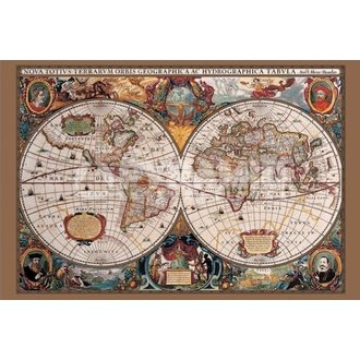 plagát 17th Century World Map - Pyramid Posters - PP31836