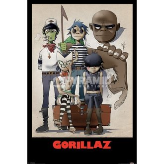 plagát Gorillaz - All Here - Pyramid Posters - PP32465