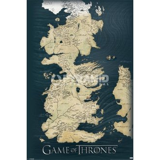 plagát Games Of Thrones - Map - Pyramid Posters - PP32664